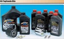 Kit 740662 Tagliando olii e candele HARLEY SPORTSTER DA 84 A OGGI filtro cromato