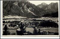 Ruhpolding Bayern Postkarte 1933 gelaufen Panorama Ansicht mit Sonntagshorn