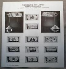 12 Executive Lampshade Patterns for Desk Banker Style Lamps New Patterns only
