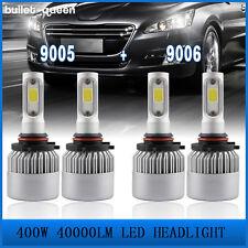 9005 9006 CREE COB LED 400W 40000LM Combo Headlight High&Low 6500K Bulbs Kit