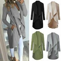 Outwear Waterfall Sweater Cardigan Jumper Loose Coats Women's Long Sleeve Jacket