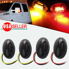 4X Red&Yellow Side Dually Bed Marker LED Lights For 1999-2010 Ford F350 Smoke