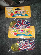 Party Prizes Gold Medals Two Packs of 4 Count