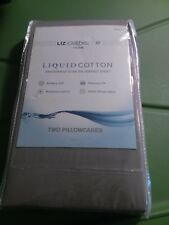 Liz Claiborne Liquid Cotton Pillowcases King Purple 300 Thread Count 2 NEW Mauve