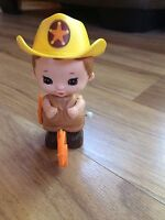 Vintage 1979 Tomy Cowboy Sheriff Wind Up Toy