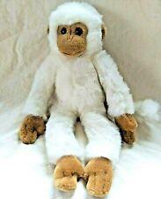 "Russ Berrie Einstein White Brown Monkey Chimpanzee Plush Animal 16"" Posable #733"