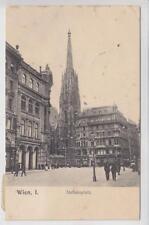 AK Wien I, Stephansplatz m. Stephansturm 1908