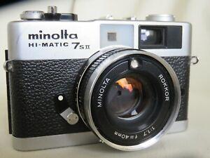 Minolta HI-Matic 7 S II Meßsucherkamera Rokkor 1:1.7 f= 40mm Tasche rangefinder