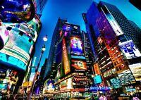 NEW YORK CITY LIGHTS BILLBOARDS TIMES SQUARE A3 ART PRINT POSTER YF5375