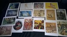 16 x PRINTS/ART WORK/TEACHERS NOTES/LEGER/BALCHAND/BENNINCK/CASSAT/LAZARE/ETC.