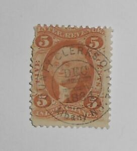 R27C S.O.N. Dec 1864 County Clerks Office Albany NY Revenue Stamp Used