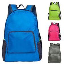 Mens Boys Girls Foldable Backpack Rucksack School College Travel Laptop Work Bag