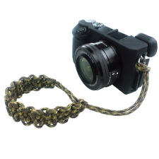 US Made Paracord 550 Adjustable Camera Wrist Strap+Split Ring-Ground War Camo
