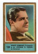 1950s Fedora Spanish Film Star cigarette tobacco card #134 Actor Robert Cummings