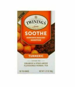 Twinings Turmeric Orange And Star Anise Soothe Herbal Tea