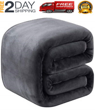 "Thick Heavy Winter Warm Soft Mink Queen Size Fleece Blanket - 90"" x 90"""