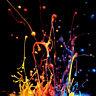 Tempered Glass Photo Print Wall Art Picture Splash Colorful Paint Prizma GWA0317