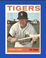 1964 Topps Norm Cash #425 Baseball Card - Detroit Tigers HOF