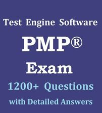 PMP Exam 1230 Questions Bank Test Engine Software Not Exam Simulator PMBOK 6 Ed