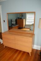 heywood wakefield bedroom  dresser chest of drawers champagne 1514