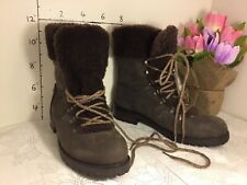 Ugg Fraser Lace Up Genuine Shearling Lined Boot 1018896 Brown Size 11 new #1953