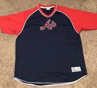 VTG Atlanta Braves Baseball True Fan MLB Heavyweight Polyester Shirt Men's XL