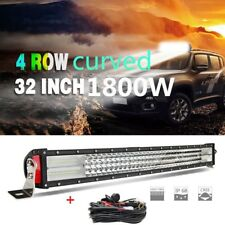 32Inch Quad Row 1800W LED Curved Light Bar Off road Driving Fog Light Combo 30''
