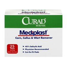 1, 2, 3 or 4 CURAD MEDIPLAST Corn Wart Callus Remover CUT TO FIT Pad Fast Ship!