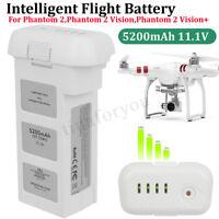 New For DJI Phantom 2 Vision Intelligent Flight 3S Spare Battery 5200mAh 11.1V