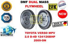 Für Toyota Verso MPV 2.0 D - 4d 124/126bhp ab 2009 Neu Doppelte Masse Dmf