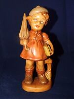 Vintage Porcelain Girl Figurine Statue w/ Umbrella