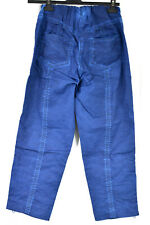 BARBARA SPEER COLBOLT BLUE HEAVY COTTON MIX RELAXED STYLE TROUSERS SIZE SMALL