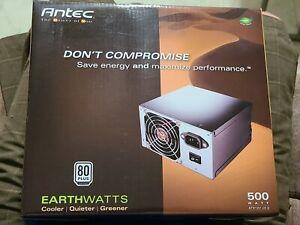 "Antec Earthwatts Power Supply EA 500 Watt 00F model ""New"""