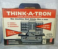 New listing Hasbro 1967 Think A Tron Card Driven Electronic Computer Toy 1960s