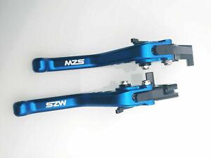Dark Blue MZS Short Brake Clutch Levers for KATANA 600 650 750 GSX GSXR GSXS GSR