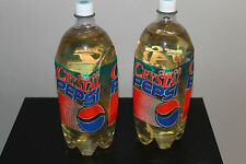 TWO CRYSTAL PEPSI 2 Liter Bottles Full NEW