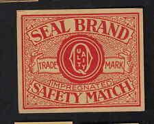 Ancienne étiquette  allumettes de paquet Belgique  BN7165 Seal Brand