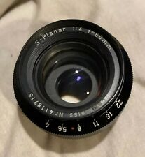 Carl Zeiss 60mm f4 S-Planar Lens w/ Mount Ring 4118715 Reconditioned *Excellent