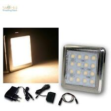 6 Set LED lampada piedistallo cromato 16 LED bianco caldo con Alimentatore