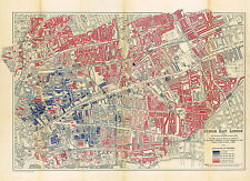 Map of Jewish East London 1901 Vintage Historic Poster Jews England Home Office