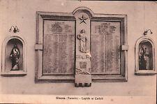 CARTOLINA DI GINOSA - TARANTO - LAPIDE AI CADUTI - ANNI '30  C5-46