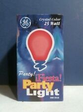 Ge Cg191Tr6 #8137285 Fiesta Party Light Red 25 Watts Free Shipping