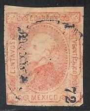 uak12 Mexico 1872 Mexico 1-72 Papel Sellado perforate Sc#89 Mc#92