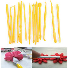 14pcs Fondant Cake Decorating Sugarcraft Paste Flower Modelling Tools Set Kit