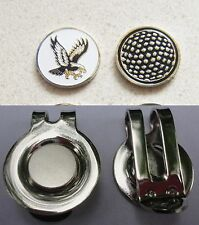 1 only EAGLE GOLF BALL MARKER WITH NICE  HAT CLIP
