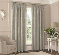 New Sandhurst Silver 46 x 54'' Pencil Pleat Curtains