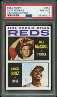 1964 Topps BB Card #356 Bill McCool, Chico Ruiz ROOKIE STARS PSA NM-MT 8 !!
