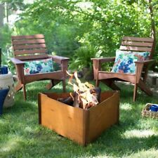Red Ember 34 Inch Triangular Wood Burning Fire Pit