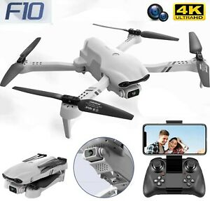 F10 Drone HD Dual Camera 5G Wifi FPV Wide Angle Foldable RC Quadcopter Gift Toys