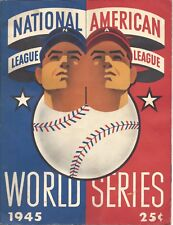 1945 World Series program Chicago Cubs Detroit Tigers Wrigley UNSCORED fair cond